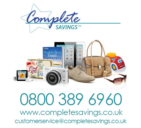 Contact Complete Savings -- a cashback programme