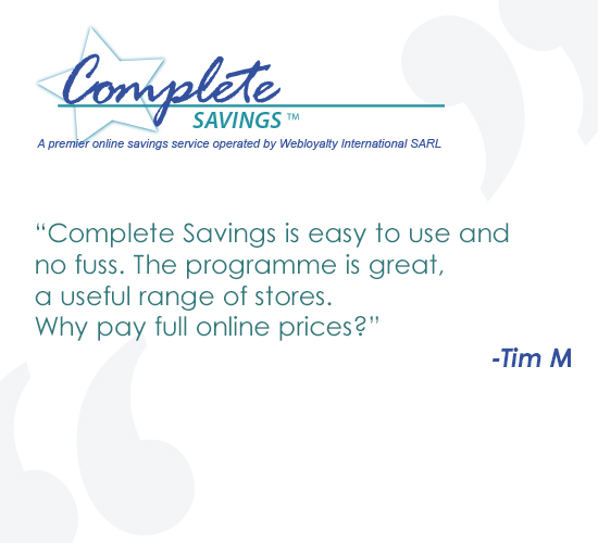 Complete Savings cashback programme review - Tim
