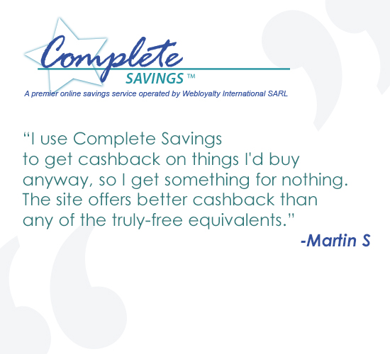 Martin likes the Complete Savings programme
