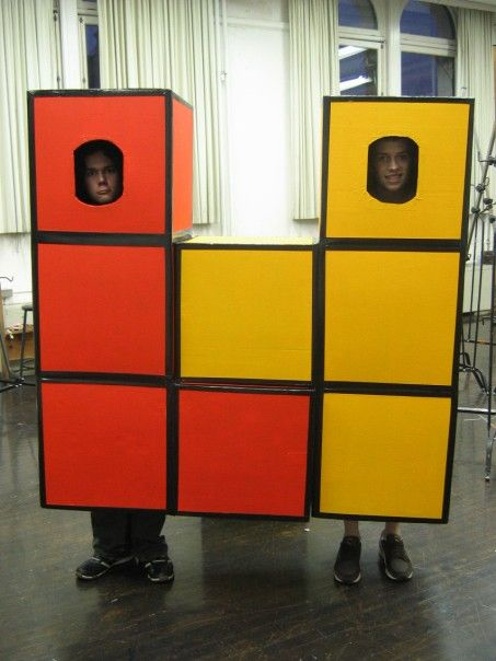 Tetris DIY Halloween costume group